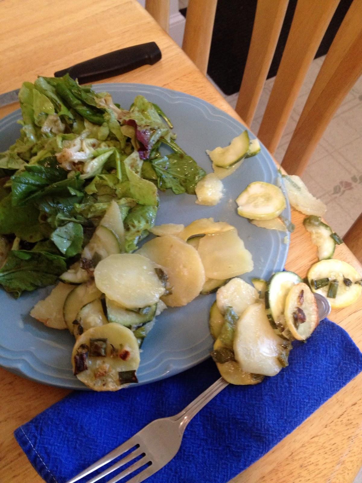 Herbed Summer Squash and Potato Torte