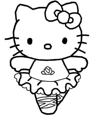 Mewarnai Gambar Hello Kitty Free