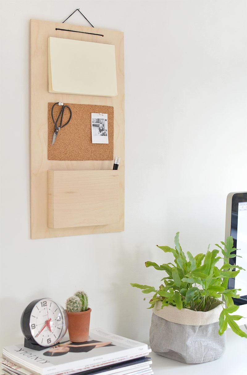 hanging wall organiser DIY