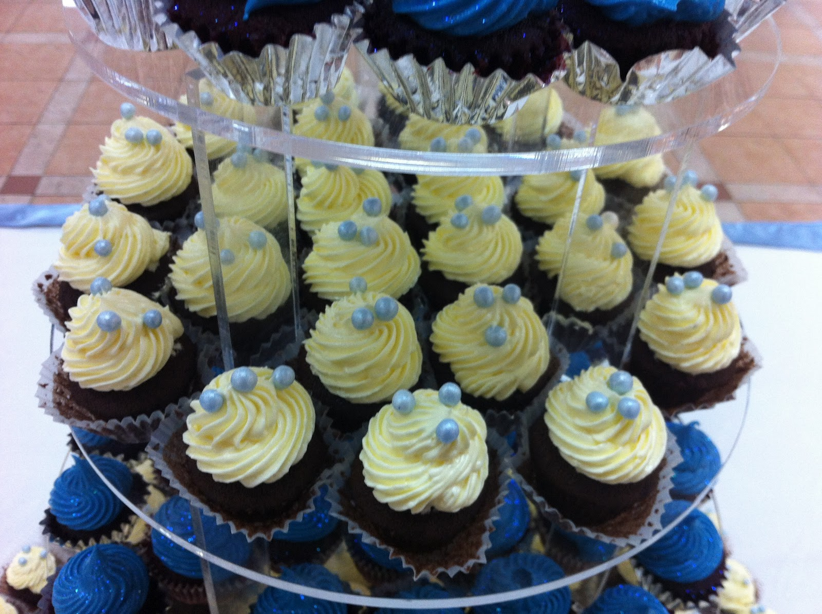 Royal Blue Cupcakes