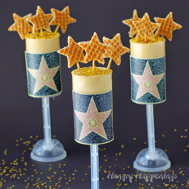 Hollywood Walk of Fame Gold Star Dulce de Leche Push Pops from HungryHappenings.com