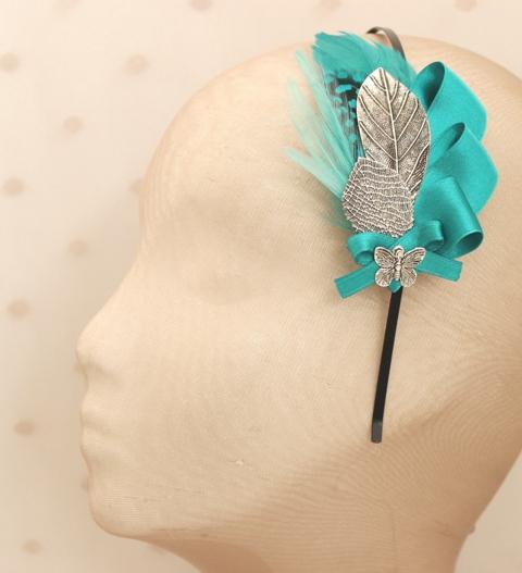 Colección Picnic - Diadema tick tack azul