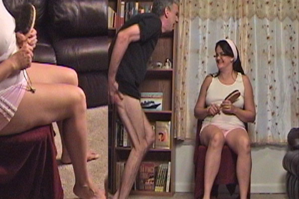 husband spanks errant wife