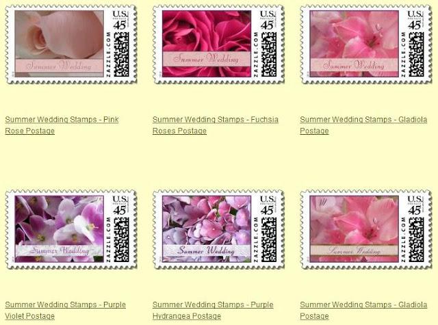 Postage Stamps Wedding Invitations