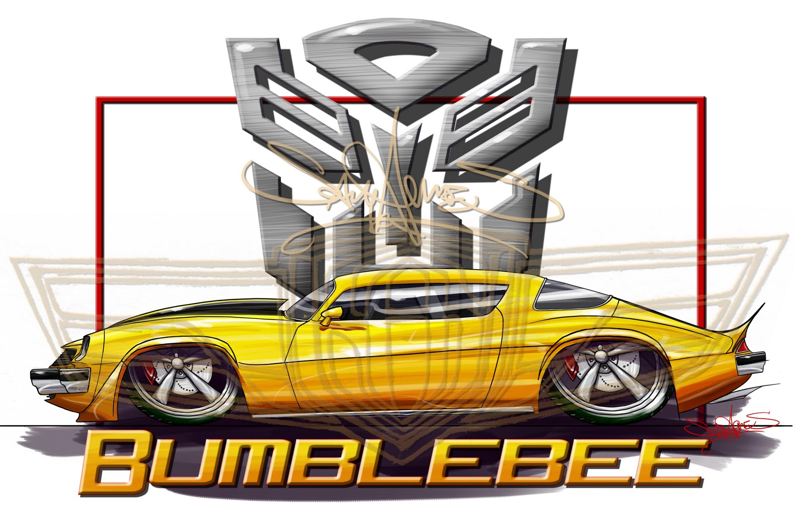 SAM AMES Bumblebee  1977 Camaro  Transformers