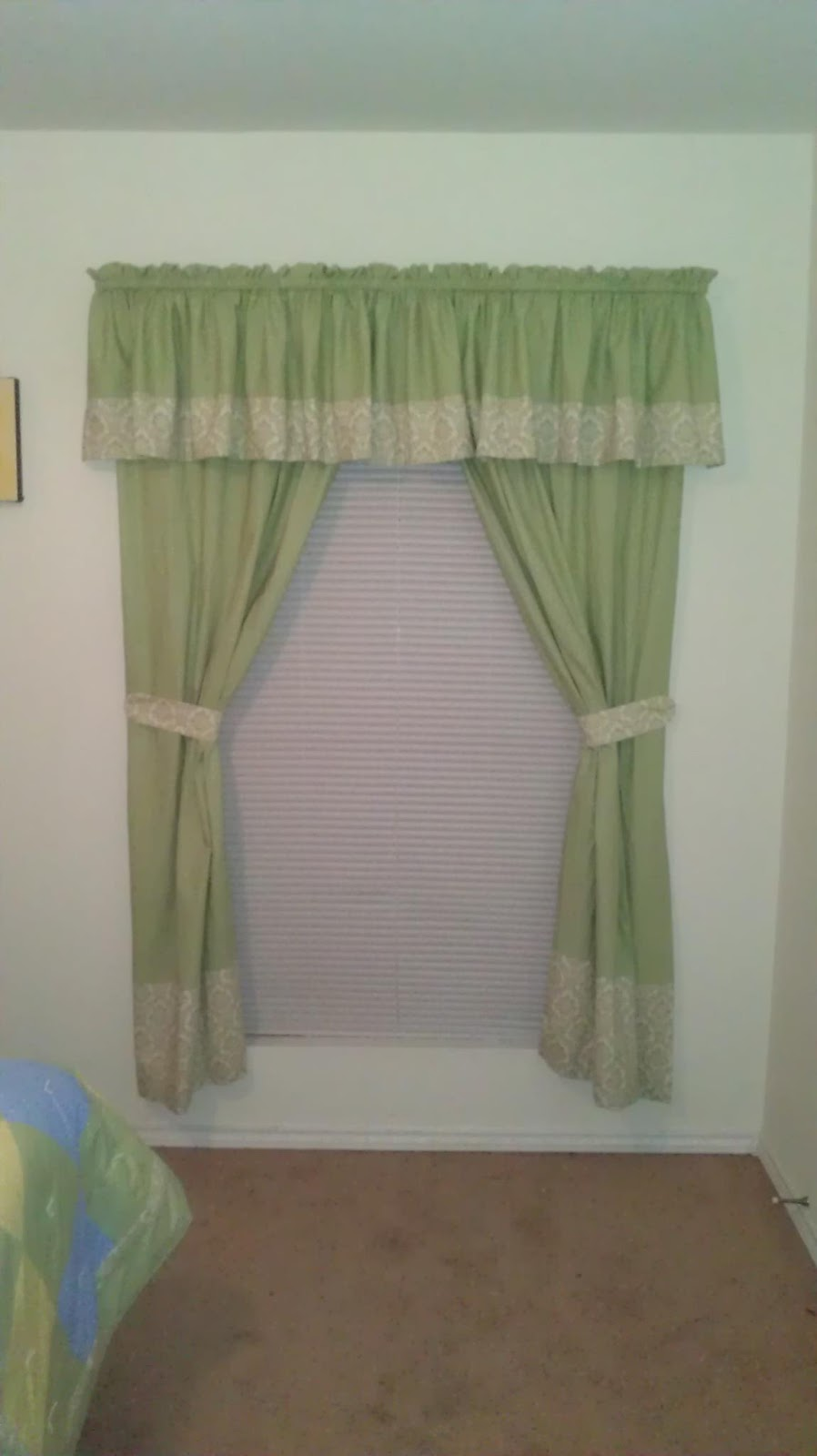 Fabric curtain tie backs - You Will Just Need A Few Scraps Of Fabric A Quarter Of A Yard Is More Than Enough You Will Also Need Some Curtain Rings Which Can Be Purchased At Any