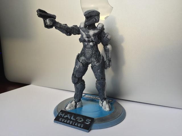 Sandboxr 3D Printed Halo 5 Spartan anubis venture female
