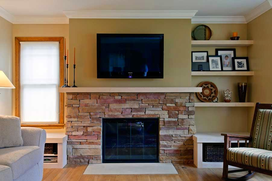Awesome fireplace makeover