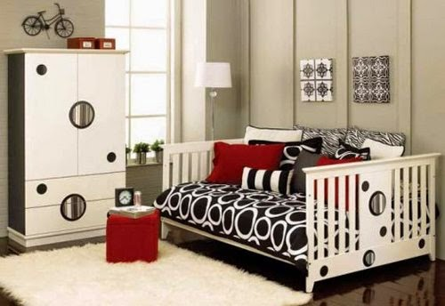 Black and White Babies Rooms Decoration Ideas