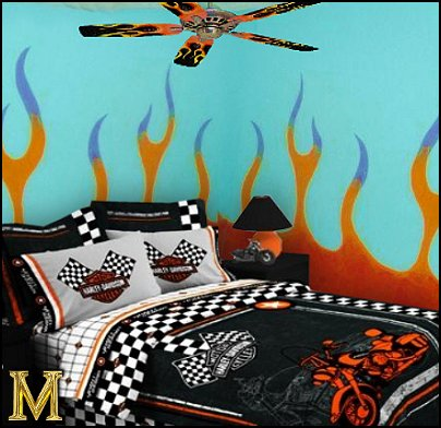 Harley-Davidson Bedroom Theme