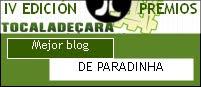 "Premio ""Tócala de cara"" 2011 al ""Mejor blog"""