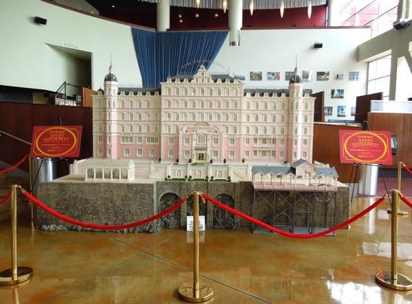 Grand Budapest Hotel movie model exhibit