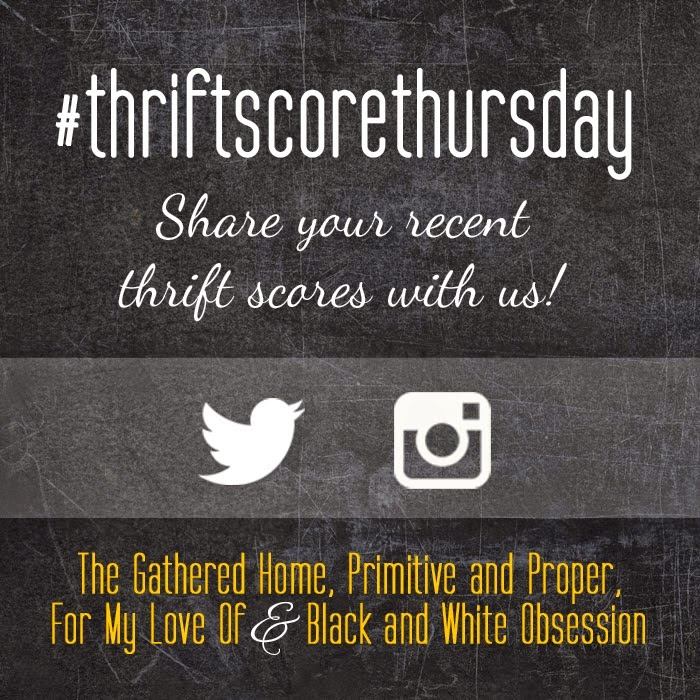 #thriftscorethursday Week 49 | Trisha from Black and White Obsession, Brynne's from The Gathered Home, Cassie from Primitive and Proper, and Corinna from For My Love Of