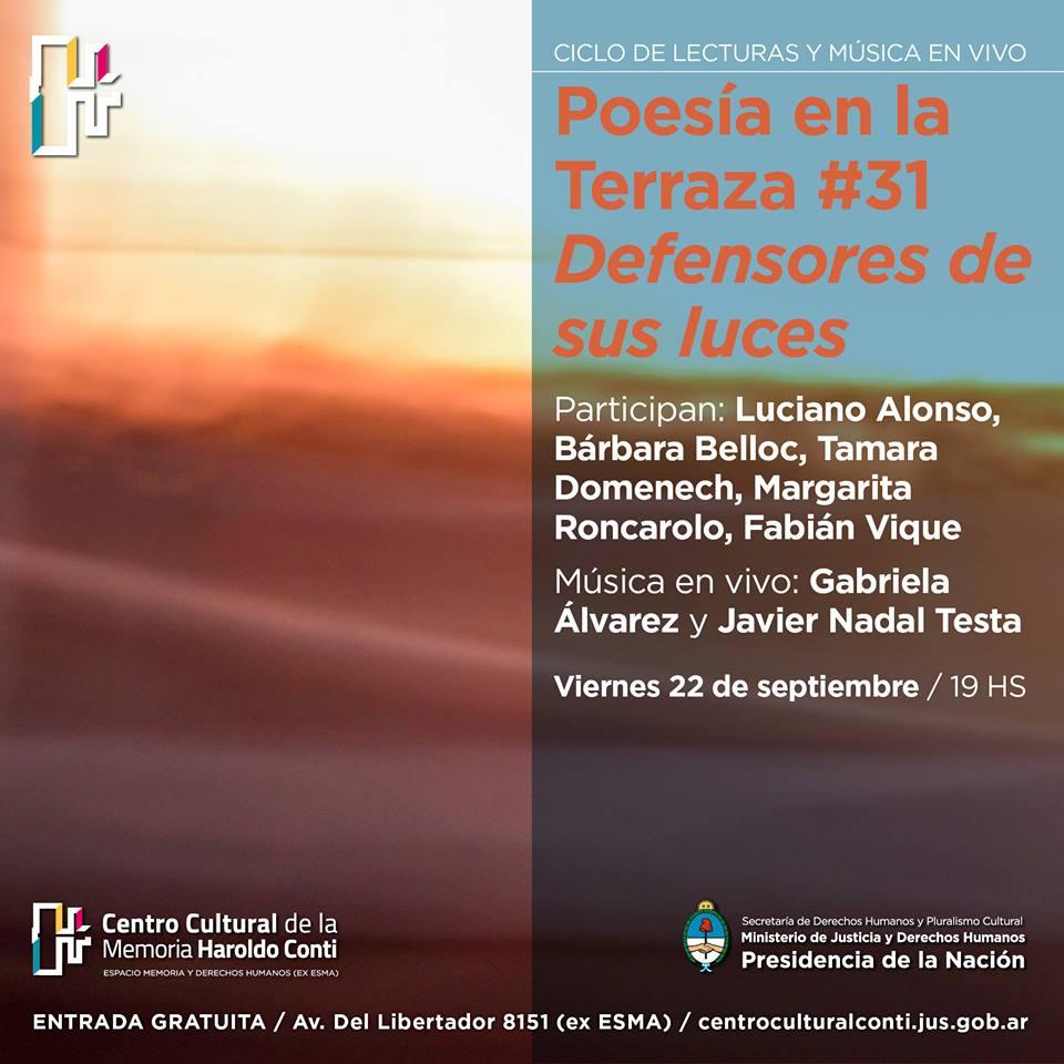 Poesía en la terraza. CCHC. 2017.