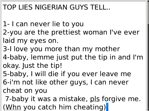 How to tell if a nigerian man loves you