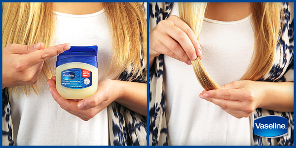 How to use Vaseline to hide split ends