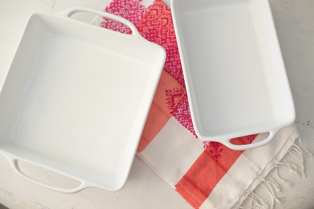 Entertaining Essentials--White baking dishes