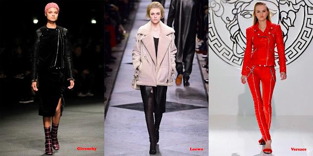Tendencias mujer otoño/invierno 2013/14 chaqueta perfecto: Givenchy, Loewe y Versace.