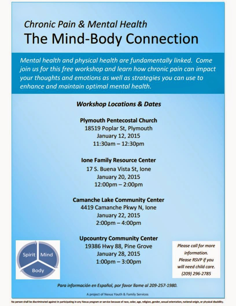 Chronic Pain and Your Mental Health - January 12, 20, 22, & 28