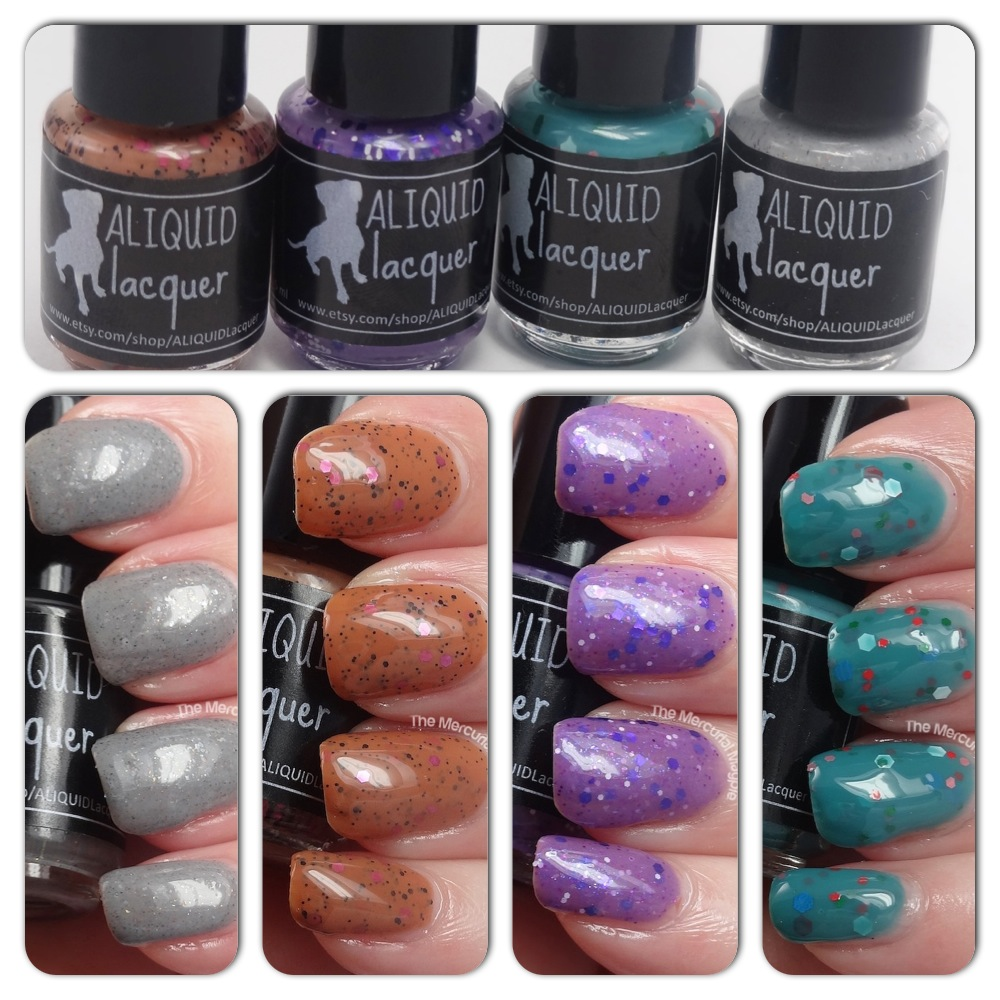 The Mercurial Magpie - Aliquid Lacquer - The Re-Gifted Collection & Stop And Smell The Orchids- Swatches & Review