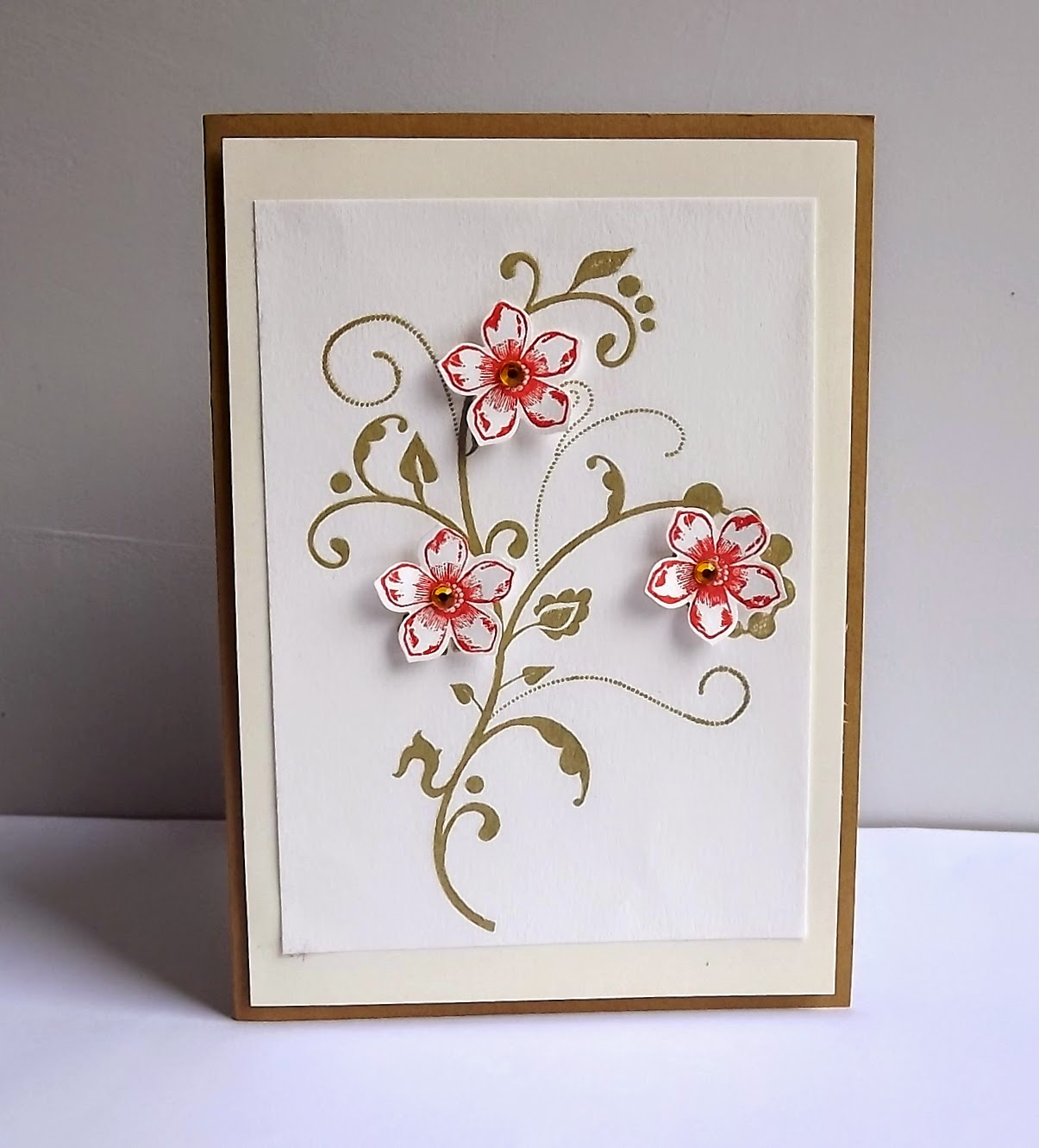 Stampin Up! Flowering Flourishes card
