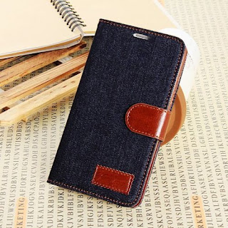 Denim Jean Cowboy Fabric Leather Soft Case Card Slots for Samsung Mobile Phone
