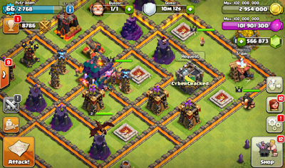 Clash Of Clans Mod/Hack Apk Update Oktober 2015-screenshot-1