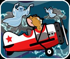 Jerry lái máy bay,game hoat hinh