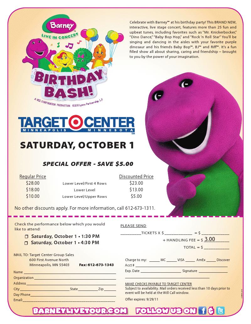 DebsHere Barney Live In Concert Birthday Bash Giveaway - Barney live in concert birthday