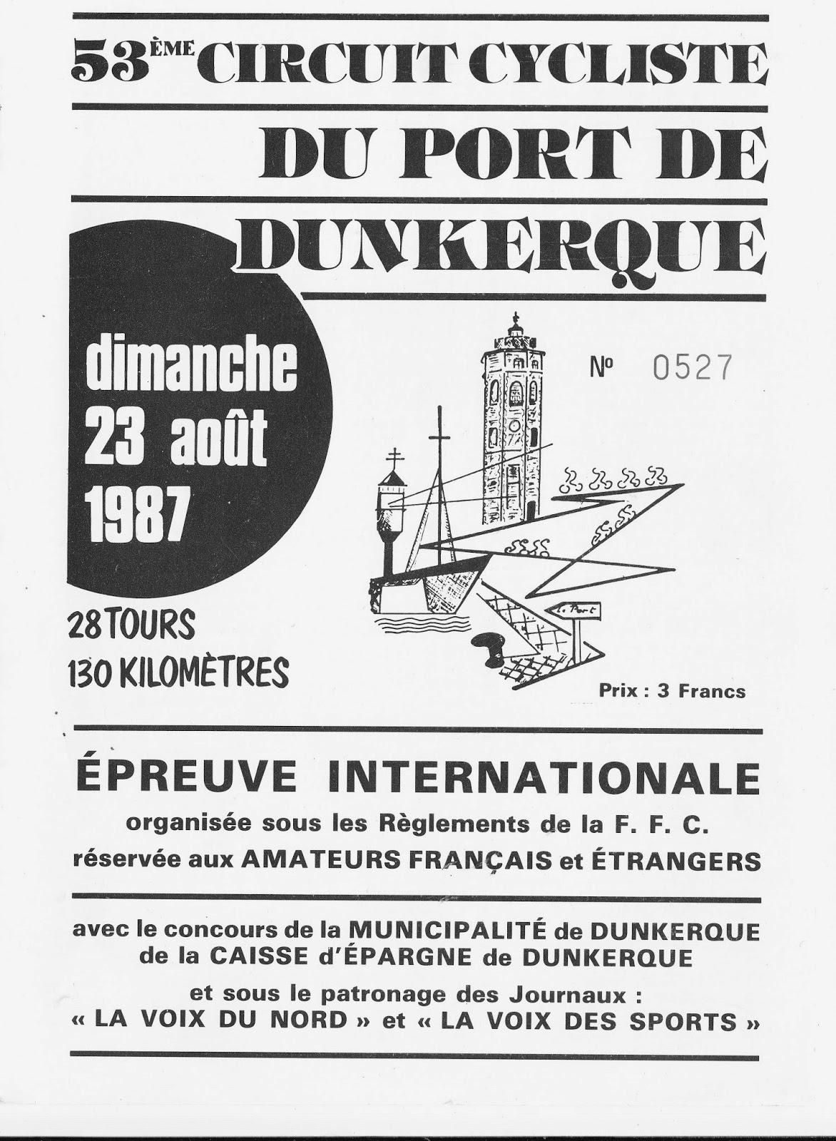 Circuit Cycliste du Port de Dunkerque 1987