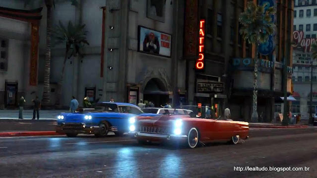 Grand Theft Auto Online Old Cars Tuning race - Corrida Carros Antigos