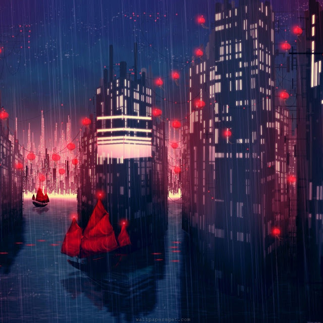 download rainy ipad wallpaper 03