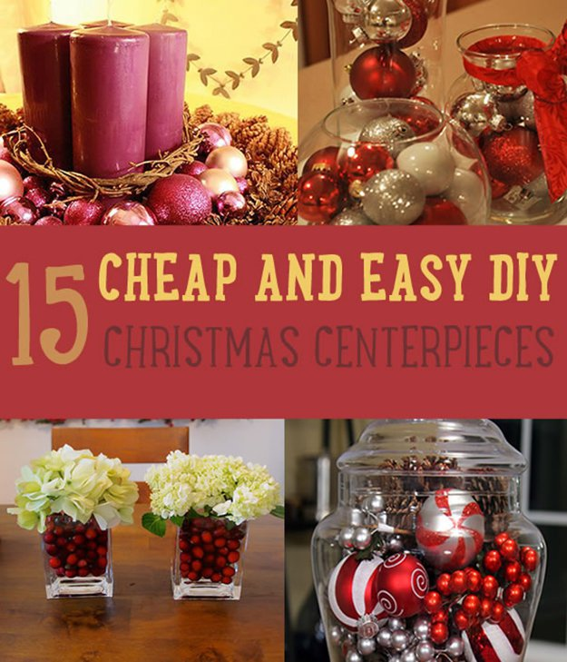 15 Cheap and Easy DIY Christmas Centerpieces