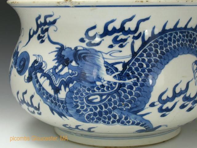 """<img src="""" Kangxi Incense burner.jpg"""" alt=""""detail of Chinese porcelain dragon decorated incense burner"""">"""