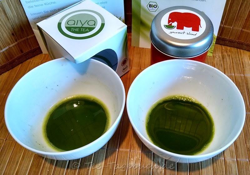 Aiya Matcha Ten (links) und imogti Gourmet Blend (rechts)