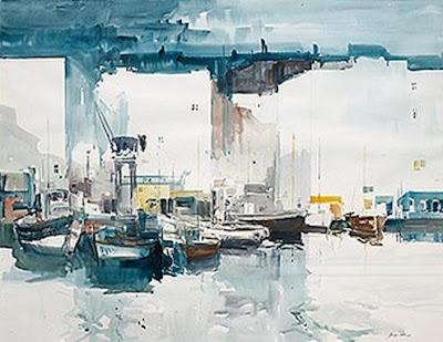 Barques al moll (Josep Martínez Lozano)