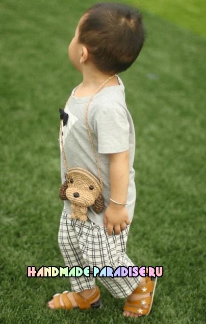 Детская сумочка СОБАЧКА крючком