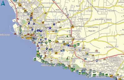 Bridgetown, GPS, Barbados, Map, Garmin, Nuvi