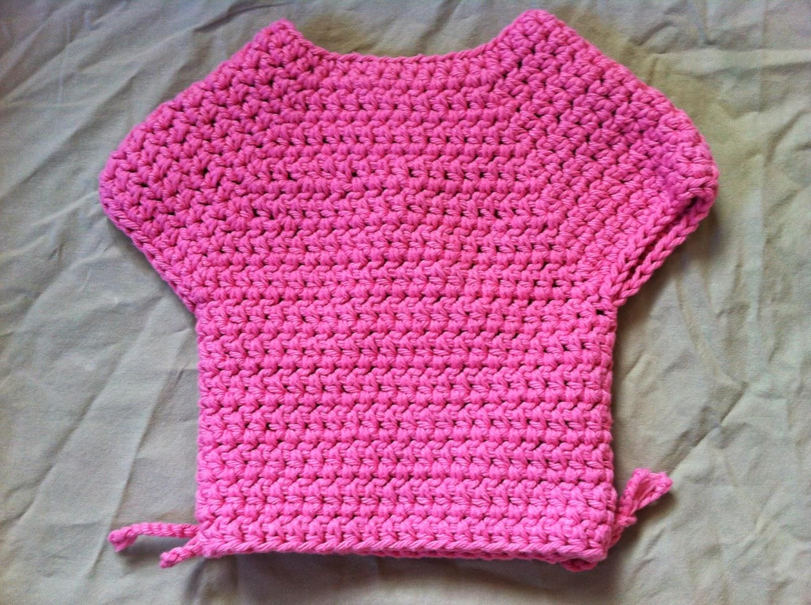 Crochet Baby Kimono Wrap Pattern : Not My Nanas Crochet!: Crochet Baby Kimono Wrap Cardigan ...
