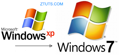 windows xp to windows seven 7 transformation image picture