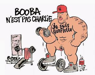 Luz de Charlie Hebdo  répond Booba à  par un dessin !