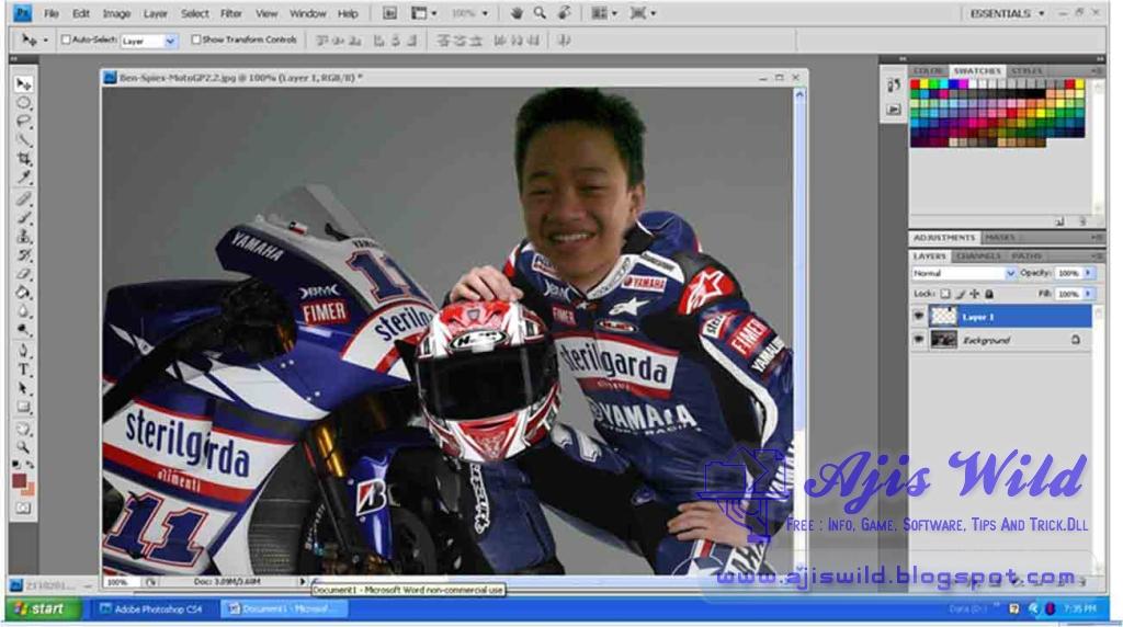 Mengganti Kepala Dengan Adobe Photoshop - Ajis Wild