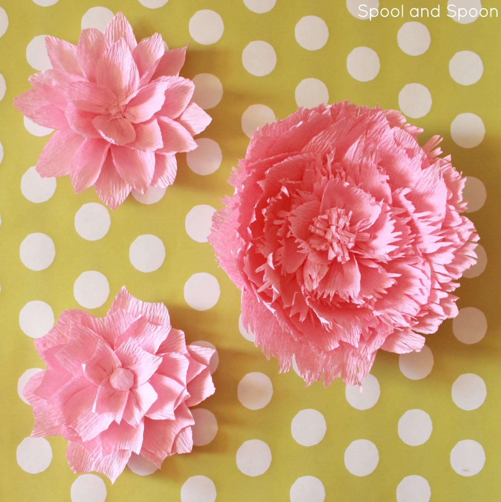 Большие цветы из креп бумаги своими руками