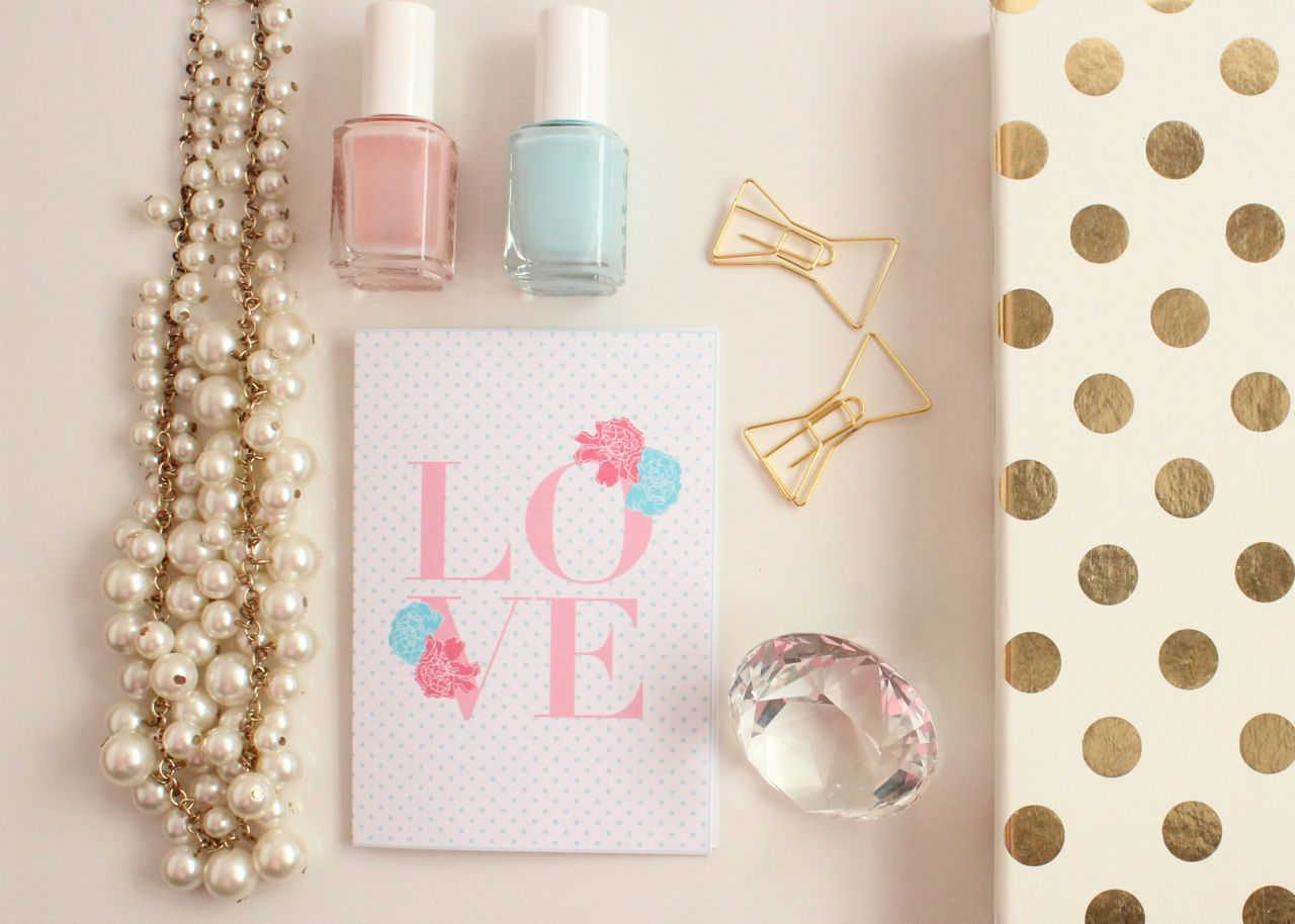 """LOVE"" Printable Valentine's Day Cards by Jessica Marie Design"