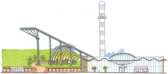 Flamingo Land Coast Illustration