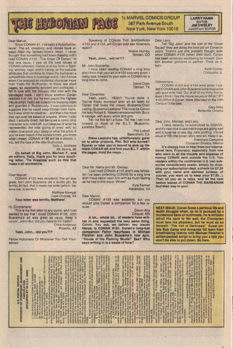 Conan the Barbarian (1970) Issue #159 #171 - English 24