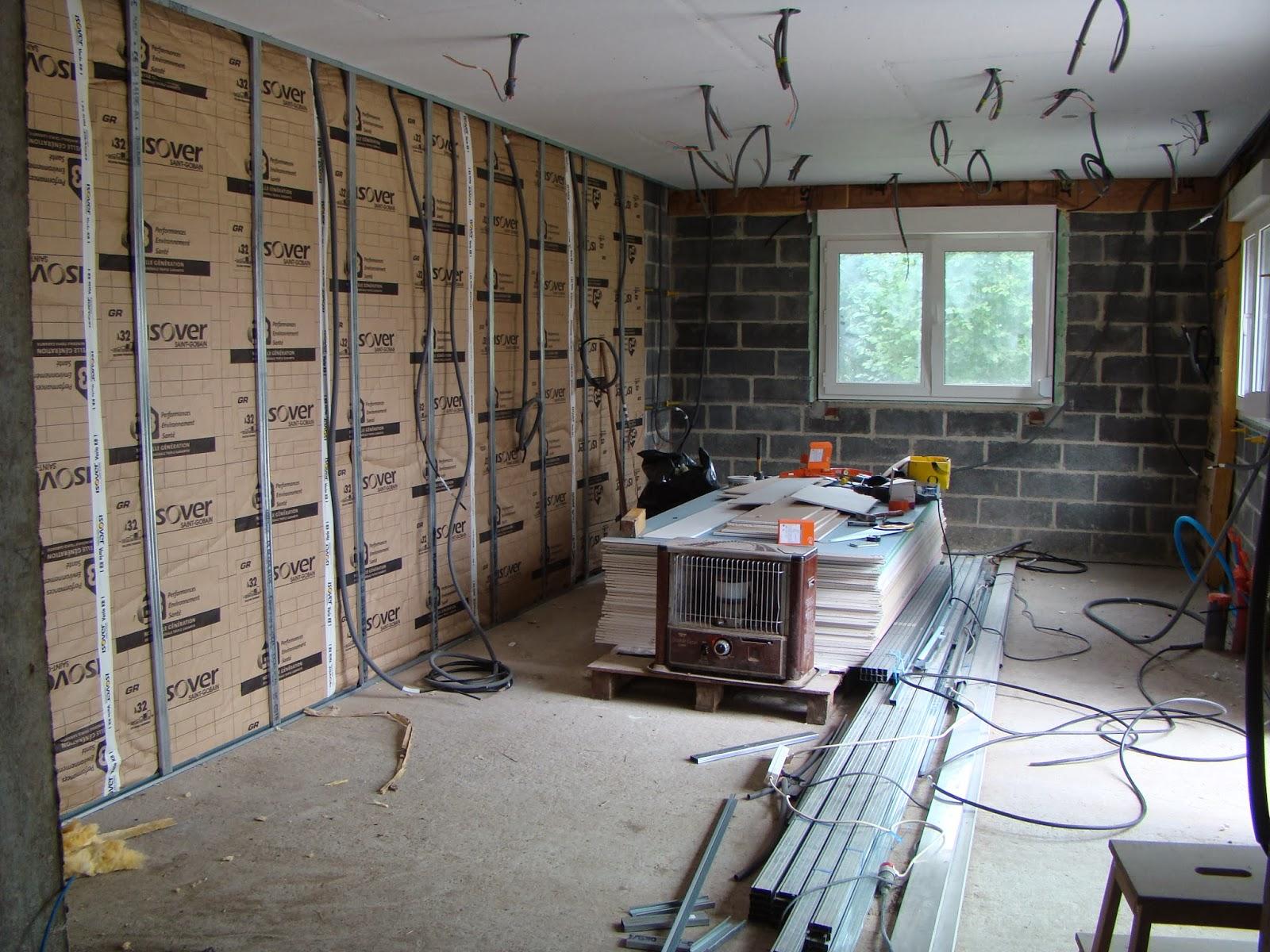 blog sur la r novation de notre grange reprise de l int rieur 3 isolation placo chauffage. Black Bedroom Furniture Sets. Home Design Ideas