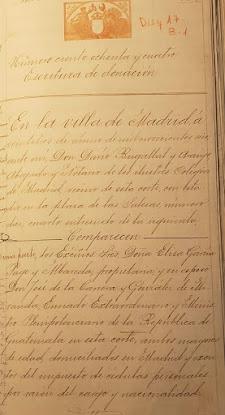 ESCRITURA DE DONACIÓN DEL COLEGIO EL PILAR EN 1906