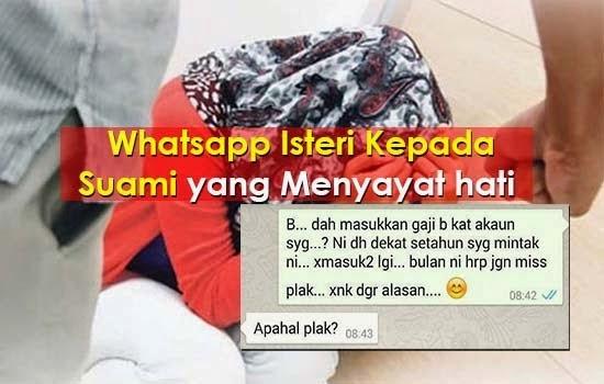 SAYU WhatsApp Suami Isteri Yang Pastinya Menyayat Hati Sesiapa Saja Yang Membacanya