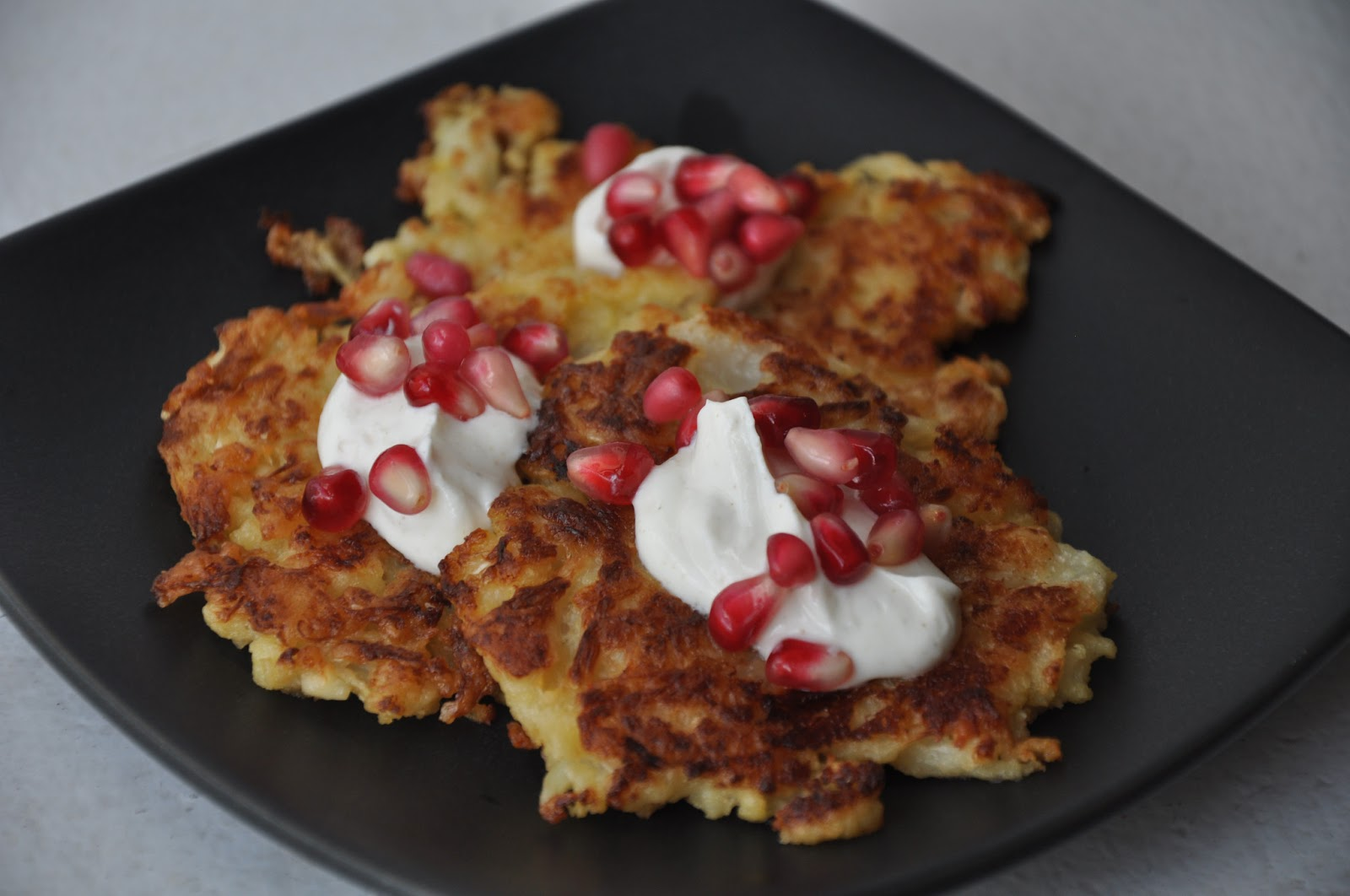 Slice of Rice: Cauliflower-Feta Fritters with Pomegranate